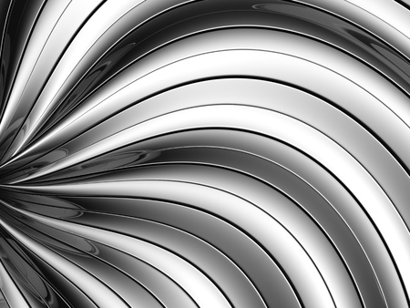Abstract silver curve stripe pattern background 3d illustration Stock Illustration - 10045046