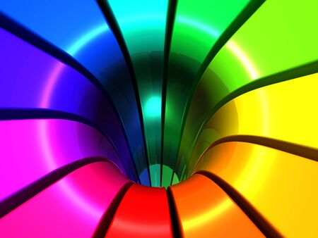 comtemporary: Colorful abstract design background 3d illustration Stock Photo