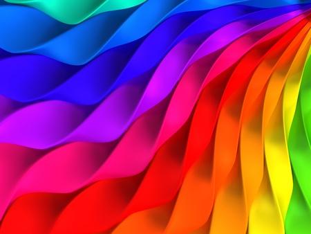 colores pastel: Ilustraci�n de coloridas bandas trenzado fondo 3d Foto de archivo