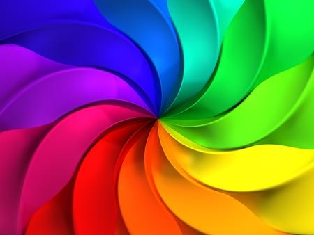 Kleurrijke abstracte windmolen patroon achtergrond 3d illustratie