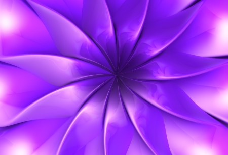 micro: Purple fantasy flower petal 3d illustration Stock Photo