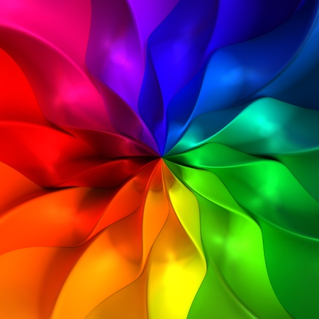 Colorful abstract petal 3d illustration background illustration