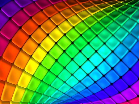 3d art: Colorful abstract cube background 3d illustration