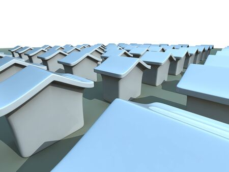 neighbourhood: House and property concept 3d illustration