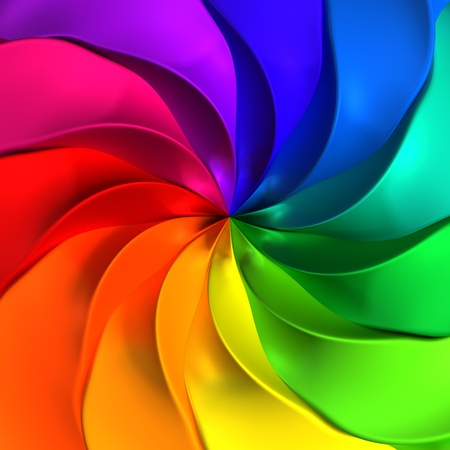 Colorful abstract twisted background 3d illustration Standard-Bild