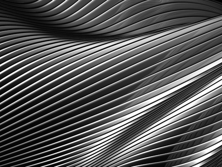concave: Abstract silver metal background 3d illustration Stock Photo
