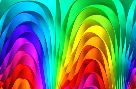 rainbow stripe: Colorful abstract stripe background 3d illustration Stock Photo