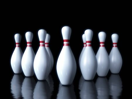 Bowling pin on the dark background Stock Photo - 13108875