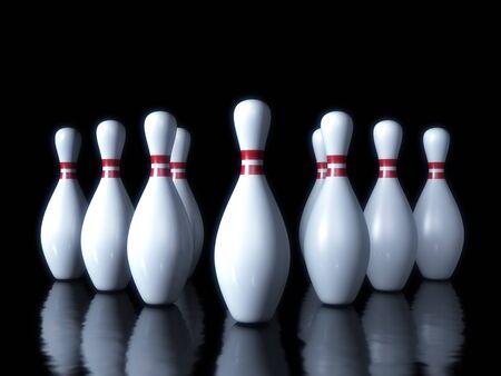 quille de bowling: Quilles sur le fond sombre