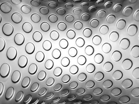 embossed: Silver abstract embossed dot background 3d illustration Stock Photo