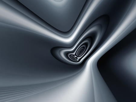 comtemporary: abstract metal shape background 3d illustration