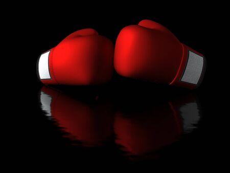 Boxing gloves in dark background Stock Photo - 13309196