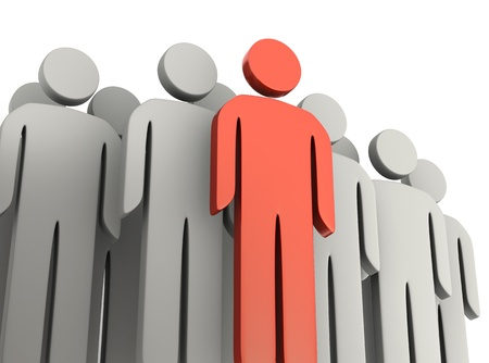 team leader: Teamwork and leadership concepts 3d illustration
