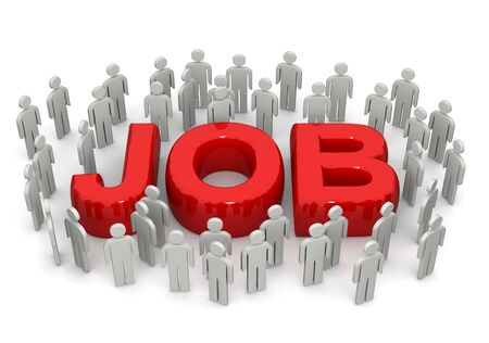 job opportunity: Career opportunity concept many people looking for job Stock Photo