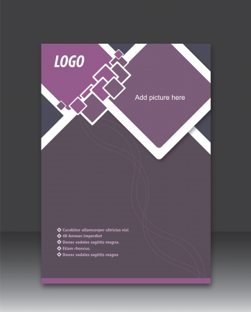 Business brochure and flyer design Vector