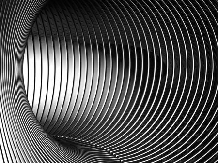 Silver tunnel 3d backgroud illustration Stock Illustration - 14855340