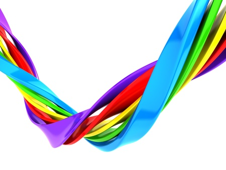 vivid colors: Colorful abstract curve stripe background 3d illustration Stock Photo