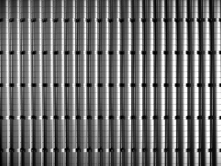 standard steel: Silver metal pattern background 3d illustration Stock Photo