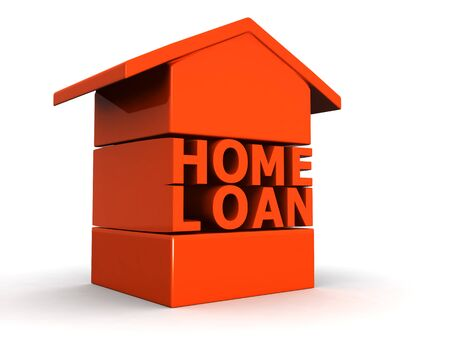 payment icon: Home Loan concept 3d illustration