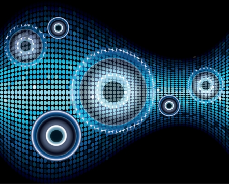 Music sound wave abstract background vector Vector
