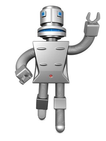 maintainer: Robot services technology business concept 3d illustration
