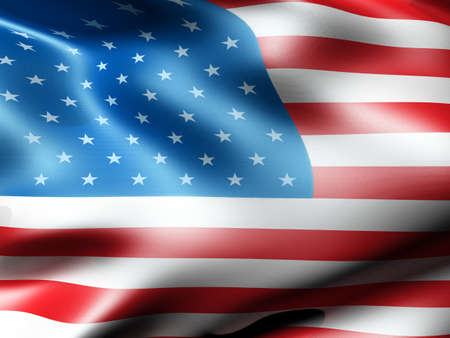 American country flag 3d illustration illustration