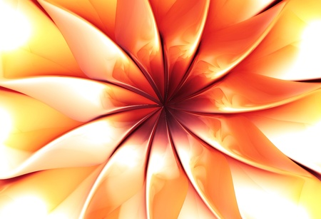 3d flower: Abstract flower 3d illustration Stock Photo
