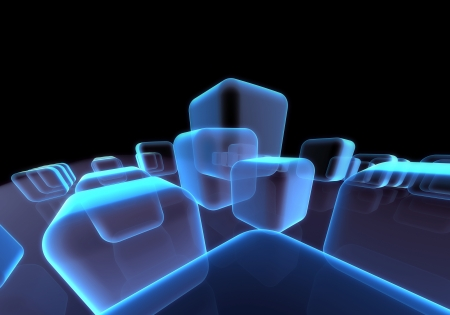 Abstract transparent block background Stock Photo - 20227711