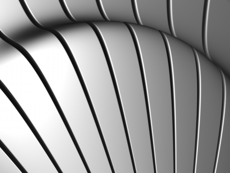 Silver aluminum stripe background 3d illustration Stock Illustration - 20227743