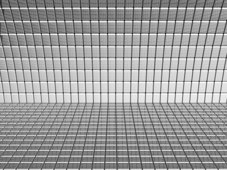 Abstract aluminum square background 3d illustration Stock Illustration - 20227746