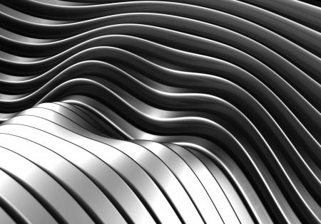 standard steel: Abstract curve stripe metal background 3d illustration