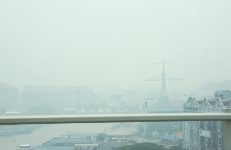 worst: The state Malacca recorded the worst air pollutant index of open fire burning monsoon season in Sumatra Editorial