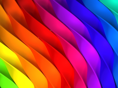 Color stripe abstract background 3d illustration Stock Illustration - 20751915