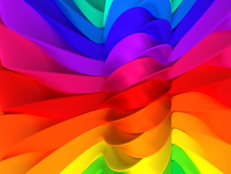 Color stripe abstract background 3d illustration Stock Illustration - 20751916