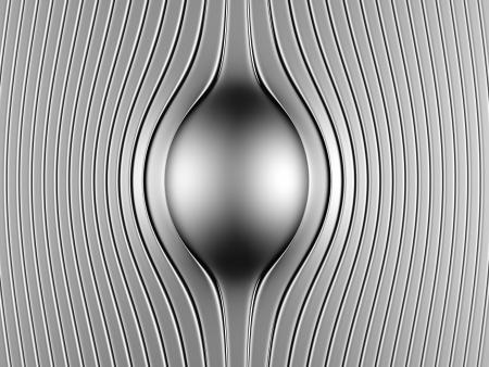 Abstract steel luxury background 3d illustration Stock Illustration - 20751917