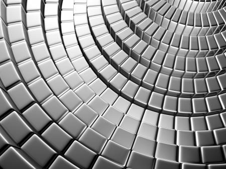 Abstract silver brick shiny background 3d illustration Stock Illustration - 21196708