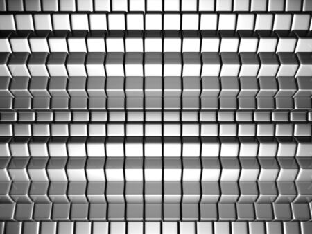 reiteration: Dynamic cube silver background 3d illustration Stock Photo