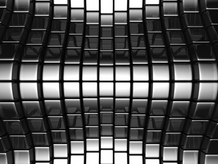 reiteration: Metal silver abstract luxury background 3d illustration Stock Photo