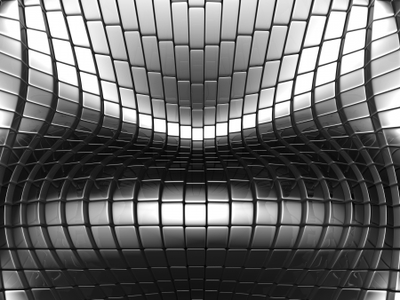 reiteration: Abstract metallic silver background 3d illustration Stock Photo