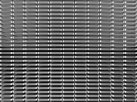 standard steel: Metal steel stripe pattern background 3d illustration Stock Photo