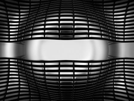 Luxury steel abstract background 3d illustration Stock Illustration - 21915392