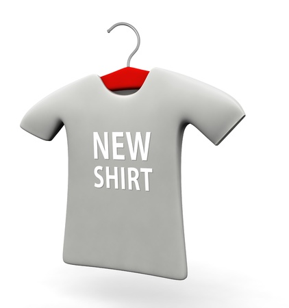 new arrival: New arrival t-shirt concept 3d illustration isolated white background Stock Photo