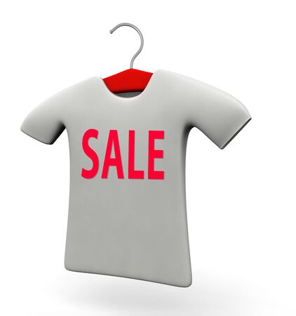 T-shirt for sale promotion concept 3d illustration isolated white background illustration