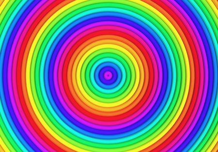 Multicolor torus pattern background 3d illustration Stock Illustration - 22027677