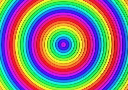 Multicolor torus pattern background 3d illustration Stock Illustration - 22027677