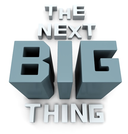 soon: The next big thing coming soon announcement 3d illustration Stock Photo