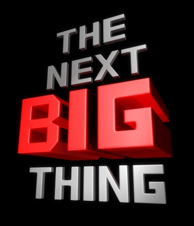 The next big thing coming soon announcement 3d illustration Imagens