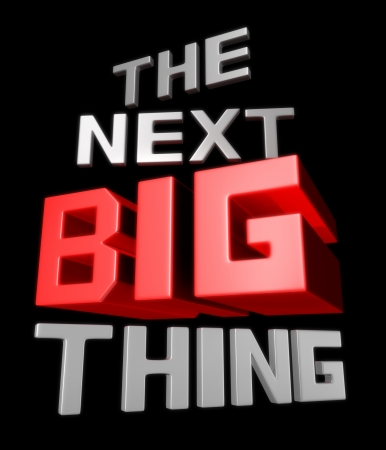 The next big thing coming soon announcement 3d illustration Stock Illustration - 22027682
