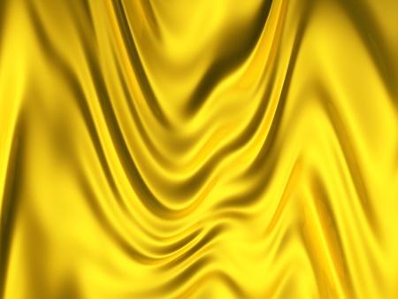 satiny cloth: Gold color silk background 3d illustration