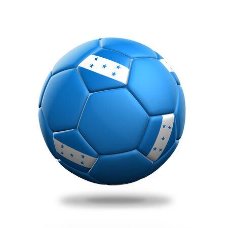bandera honduras: Aislado balón de fútbol Honduras fondo blanco